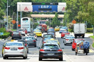 Cars on the Singapore Road before ERP