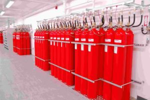 fire suppression system used in commercial building
