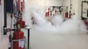 testing of fire suppression system