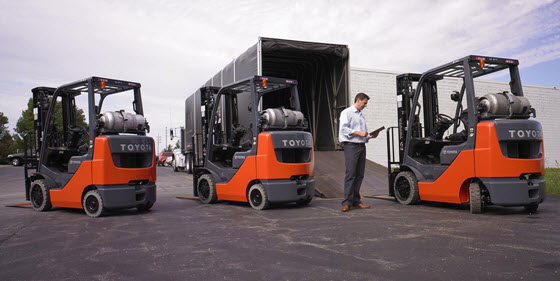 forklift to improve efficiency