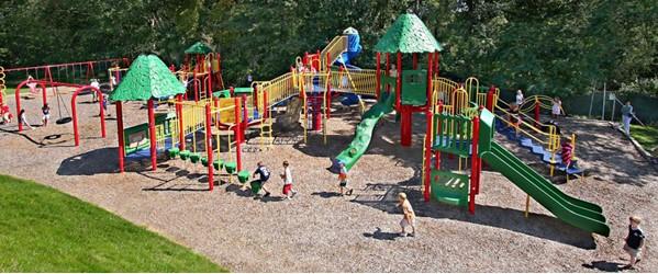 Children having fun on the playground